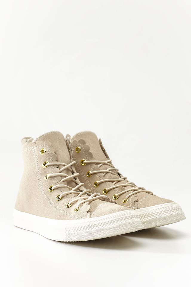 Converse CHUCK TAYLOR ALL STAR SCALLOP 421 NATURAL IVORY/GOLD/EGRET C563421