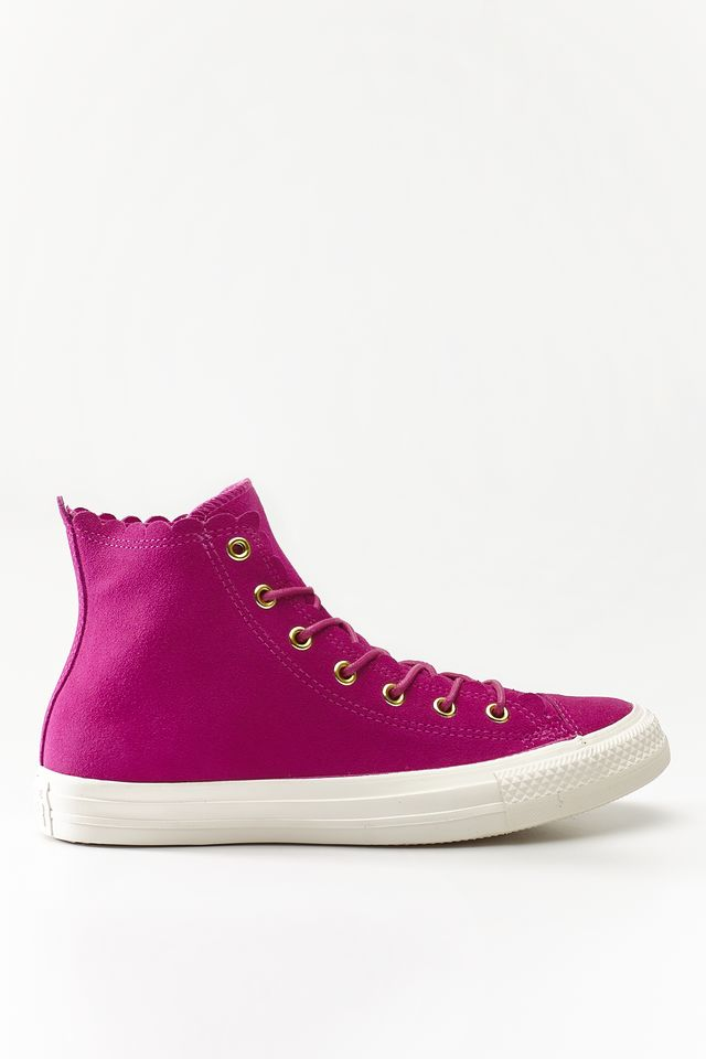 Converse CHUCK TAYLOR ALL STAR SCALLOP 424 ACTIVE FUCHSIA/GOLD/EGRET C563424