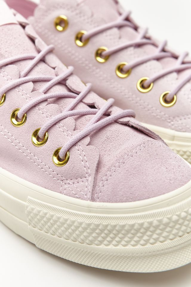 Converse CHUCK TAYLOR ALL STAR LIFT SCALLOP 500 PINK FOAM/GOLD/EGRET C563500