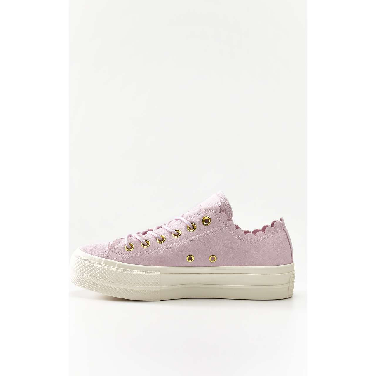 Trampki Converse  <br/><small>CHUCK TAYLOR ALL STAR LIFT SCALLOP 500 PINK FOAM/GOLD/EGRET </small>  C563500