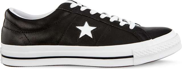 Converse ONE STAR OX C163385 BLACK/WHITE/WHITE
