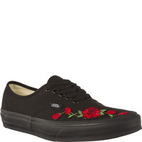 Trampki Vans Authentic Black RED FLOWER