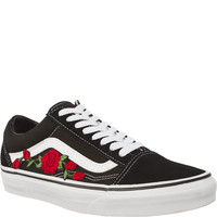 Trampki Vans Old Skool Black RED FLOWER