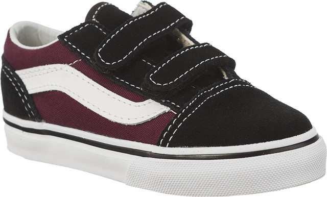 Vans OLD SKOOL Q7J BLACK/OG BURGUNDY VN0A344KQ7J1