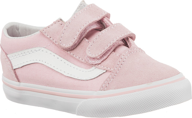 Vans TD OLD SKOOL V SUEDE/CANVAS Q7K CHALK PINK/TRUE WHITE VN0A344KQ7K1
