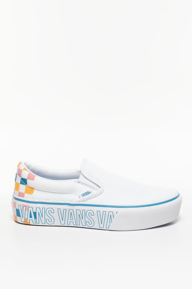 Vans UA CLASSIC SLIP-ON PLATFORM AHP TRUE WHITE/MULTI VN0A3JEZAHP1