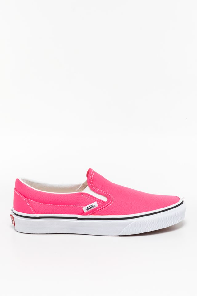 (Neon) knockout pink/true white CLASSIC SLIP-ON WT6