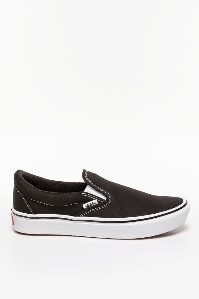BLACK/TRUE WHITE COMFYCUSH SLIP-ON VNE