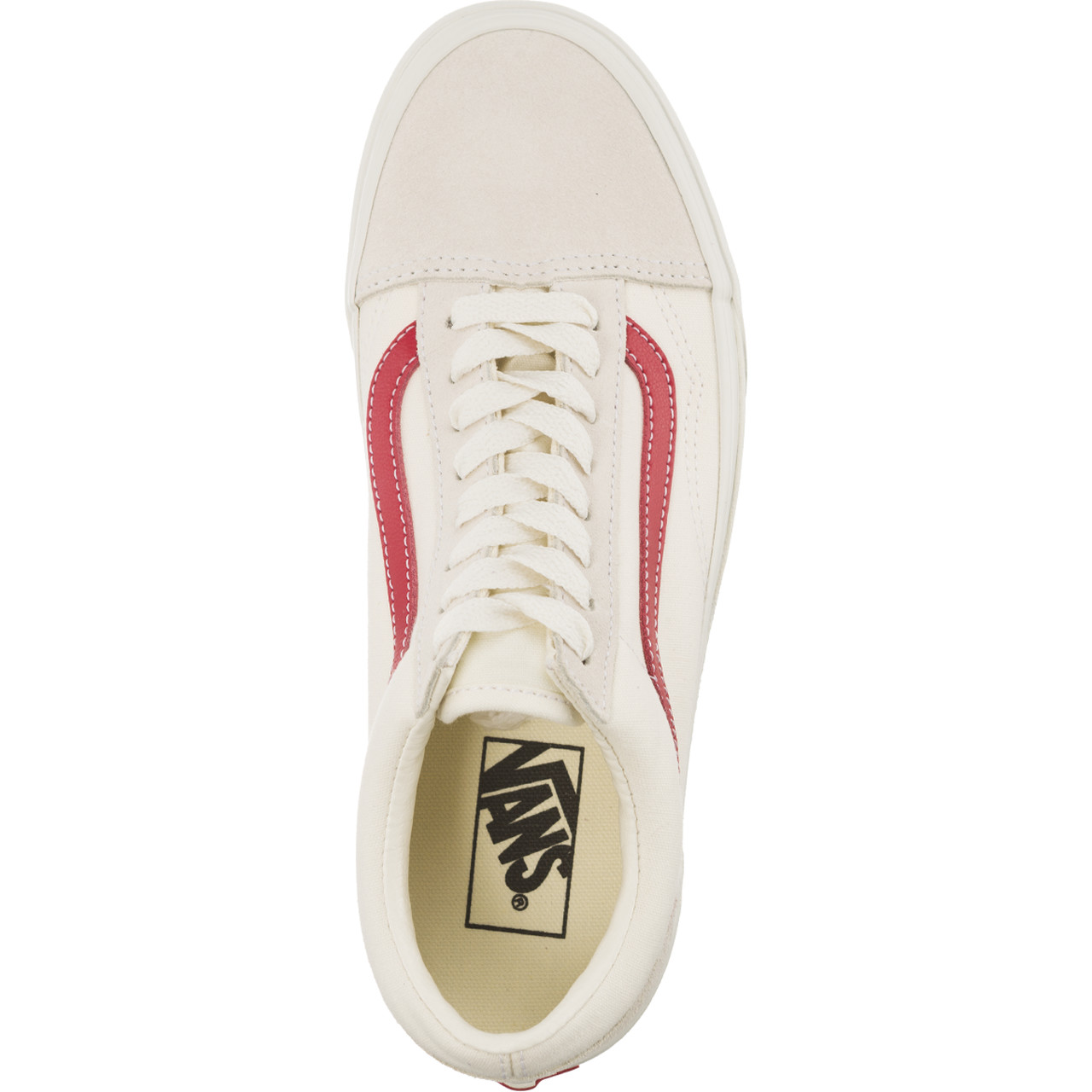 Trampki Vans  <br/><small>OLD SKOOL R1T VINTAGE WHITE/ROCOCCO RED </small>  VN0A38G1R1T1