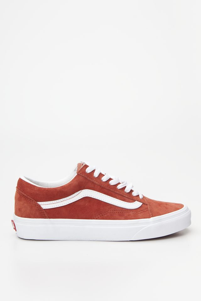 Vans OLD SKOOL V75 (PIG SUEDE) BURNT BRICK/TRUE WHITE VN0A4BV5V75