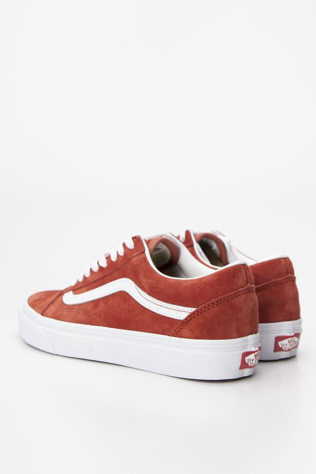 Trampki Vans  <br/><small>OLD SKOOL V75 (PIG SUEDE) BURNT BRICK/TRUE WHITE </small>  VN0A4BV5V75