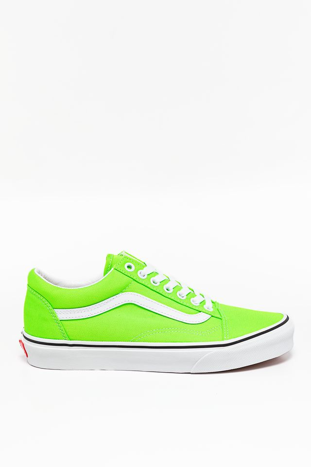 NEON GREEN GECKO/TRUE WHITE OLD SKOOL WT5
