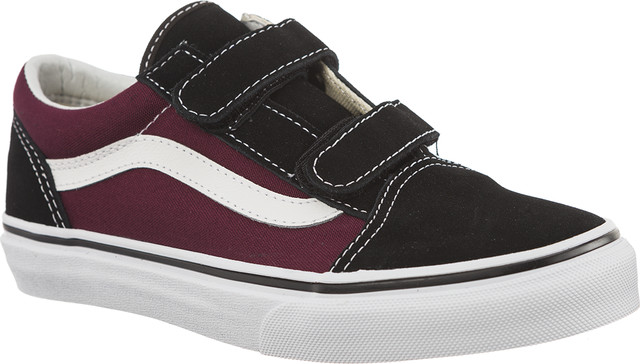 Vans POP OLD SKOOL V Q7J BLACK/OG BURGUNDY VN0A38HDQ7J1