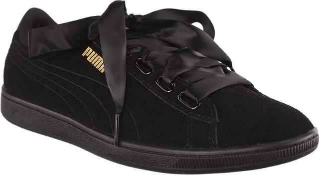 Puma VIKKY RIBBON SATIN PUMA BLACK/PUMA BLACK 36641601