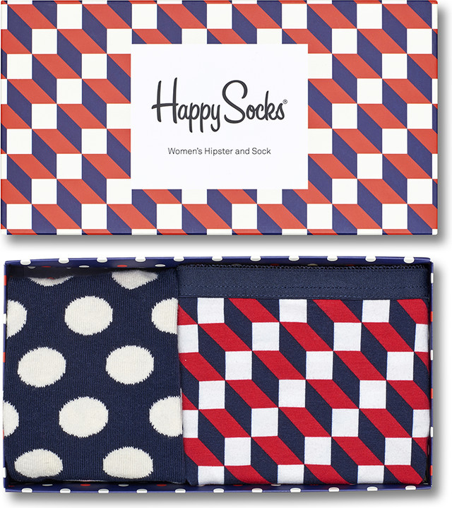 Happy Socks Filled Optic Women's Hipster & Sock XFIO 4893
