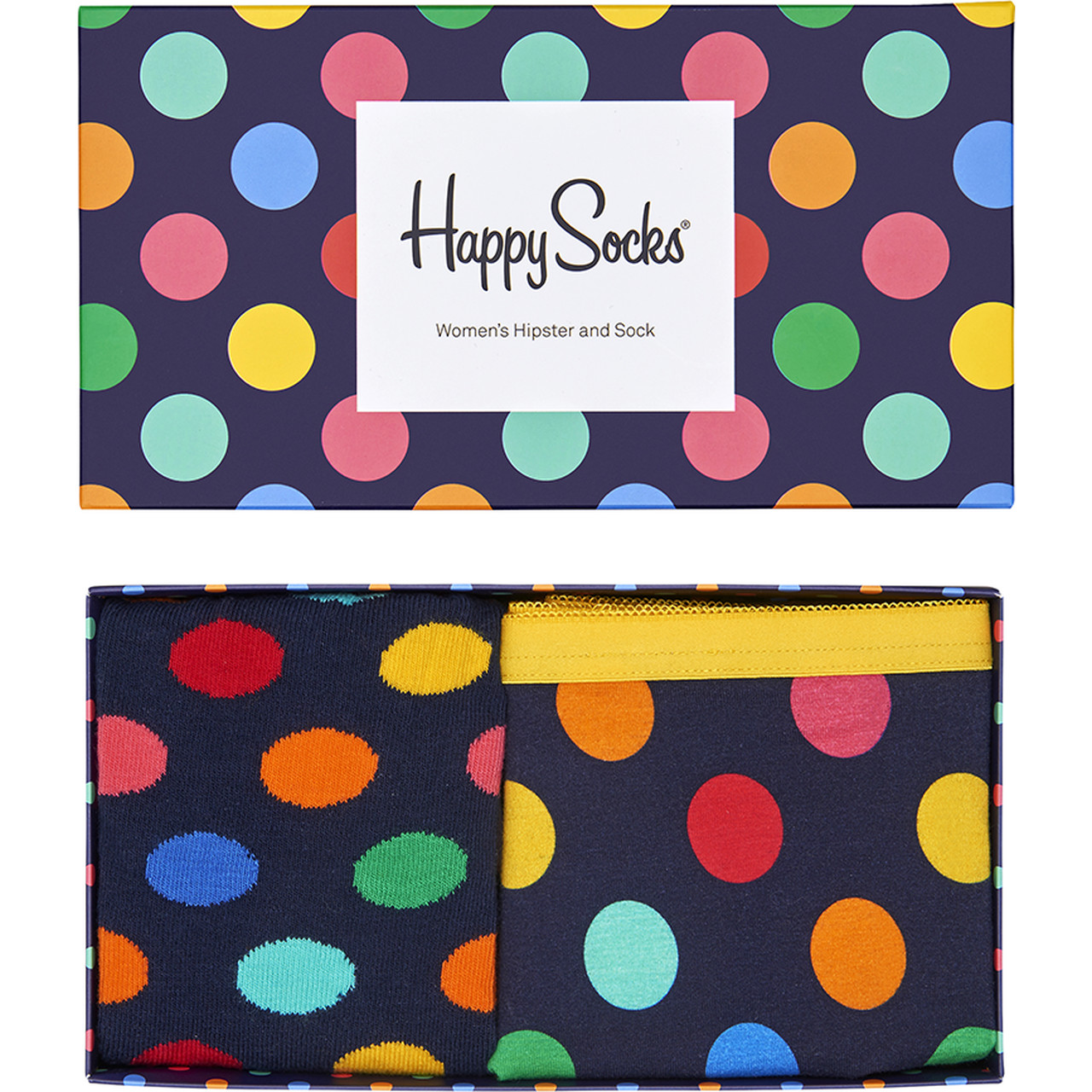 Zestaw skarpet i majtek 2Pack Happy Socks  <br/><small>Big Dot Women's Hipster & Sock XBDO62-60 </small>  4885