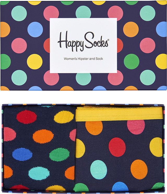 Happy Socks Big Dot Women's Hipster & Sock XBDO62-60 4885