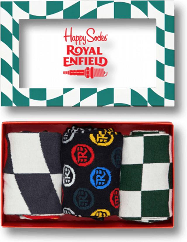 Happy Socks Royal Enfield Socks Box Set XRE08-1000 4915