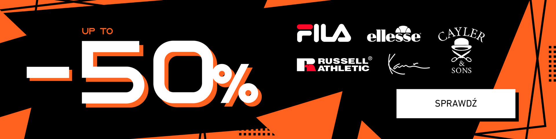 Fila, Russell Athletic, Cayler & Sons, Karl Kani i Ellesse do -50%